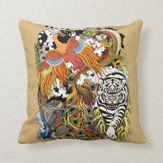 four celestial animals throw pillow
