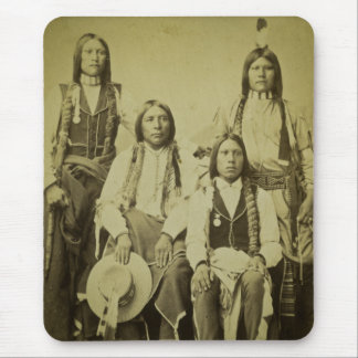 Four Cheyenne Scouts Vintage Stereoview Mouse Pad