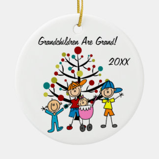 Four Children Customized Holiday Ornament