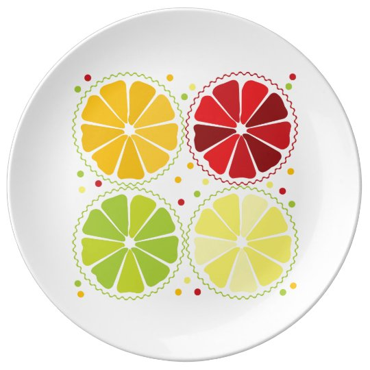 Four citrus fruits plate
