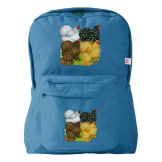 Four Cochin Hens Backpack