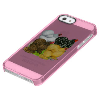 Four Cochin Hens Clear iPhone SE/5/5s Case