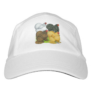 Four Cochin Hens Hat