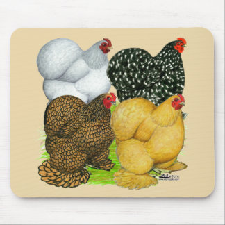 Four Cochin Hens Mouse Pad