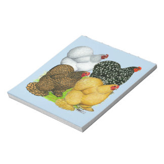 Four Cochin Hens Notepad