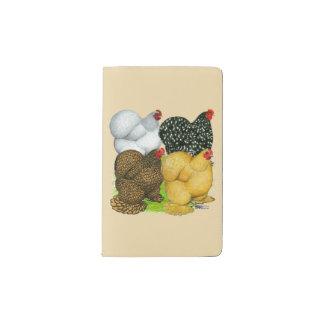 Four Cochin Hens Pocket Moleskine Notebook