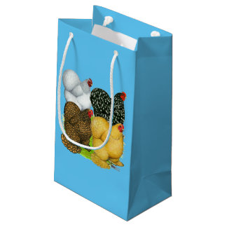 Four Cochin Hens Small Gift Bag