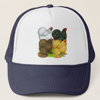 Four Cochin Hens Trucker Hat