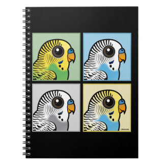 Four Color Budgies Notebooks