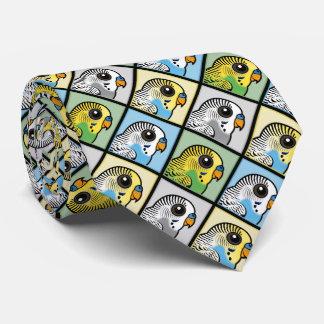 Four Color Budgies Tie