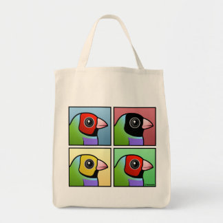 Four Color Gouldian Finch Tote Bag