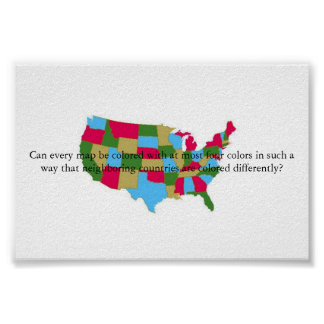 Four Color Map Poster