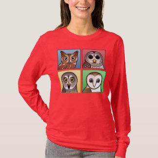 Four Color Owls (pastel) T-Shirt