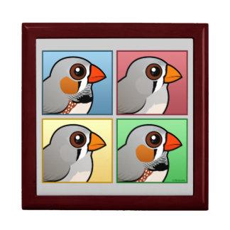 Four Color Zebra Finch Gift Box