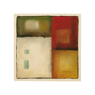 Four Colorful Rectangles by Chariklia Zarris Wood Wall Decor