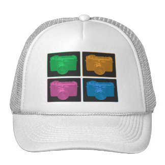 Four Colorful Retro Cameras Trucker Hat