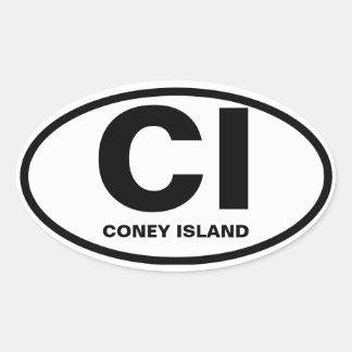 """FOUR Coney Island """"CI"""" Oval Sticker"""