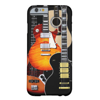 Four Cool Guitars Barely There iPhone 6 Case