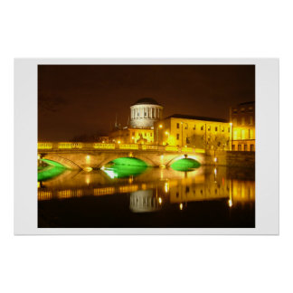 Four Courts Dublin Poster
