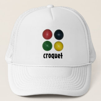 Four Croquet Balls Trucker Hat