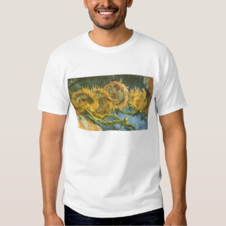 Four Cut Sunflowers by Vincent van Gogh, Fine Art Tee Shirts