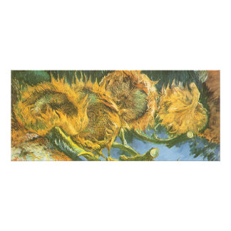 Four Cut Sunflowers by Vincent van Gogh Custom Invite