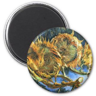 Four Cut Sunflowers - Vincent Van Gogh Magnet