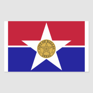 FOUR Dallas Flag Sticker