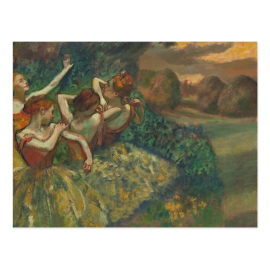 Four Dancers by Degas Postcard