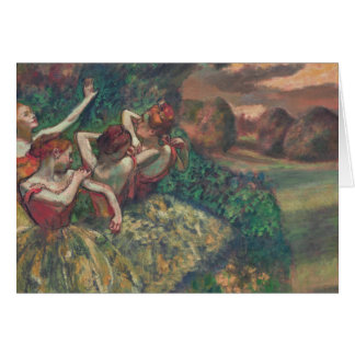 Four Dancers, Edgar Degas Card