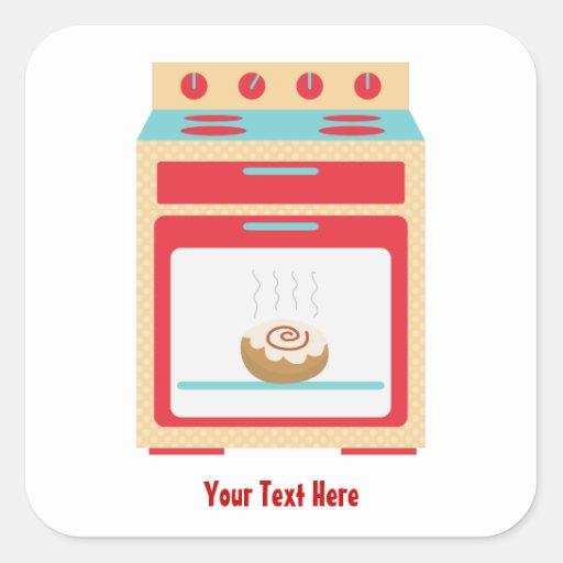 Four de petit pain (maternité personnalisable) stickers carrés