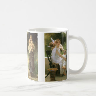 Four different Bouguereau Paintings Coffee Mugs