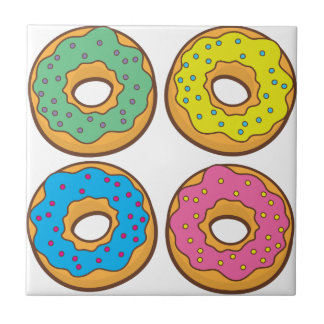 four donuts tile