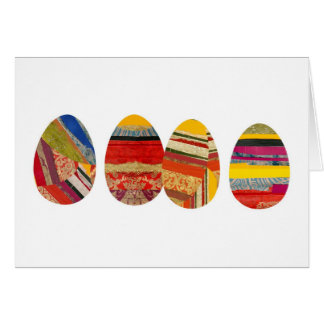 Four Eggs for Easter Card