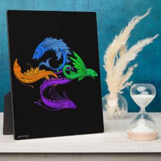Four Elemental Flying Fish Plaque