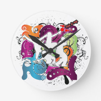 Four Elements 101 Round Clock