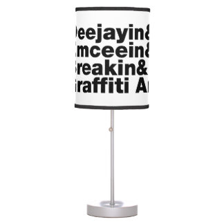 Four Elements of Hip Hop Table Lamp