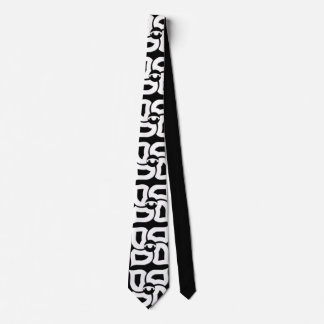 Four Elements Tie Black And White