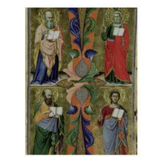 Four Evangelists, 14th century (vellum) Postcard