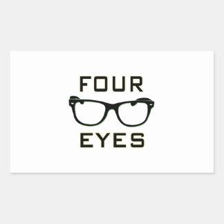 Four Eyes Rectangular Stickers