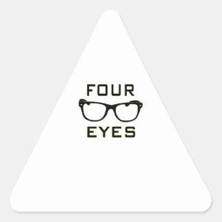 Four Eyes Triangle Sticker
