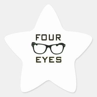 Four Eyes Star Sticker