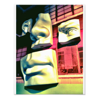 Four Faced Photographic Print
