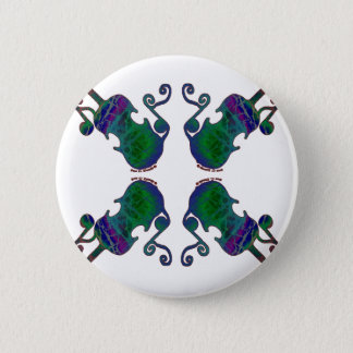 FOUR FANCY FIDDLES 2 INCH ROUND BUTTON