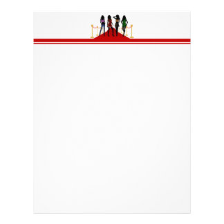 Four Fashion Models Posing on the Red Carpet Letterhead