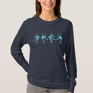 Four Figure Skaters in Cool Blue T-Shirt