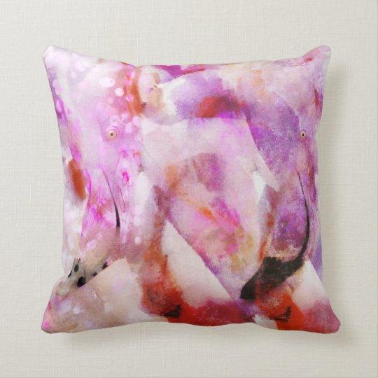 Four Flamingos Throw Pillow