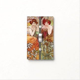Four Floral Muchas Light Switch Cover