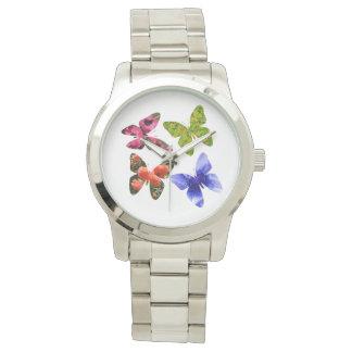 Four Flower Butterflies, Large Unisex Watch