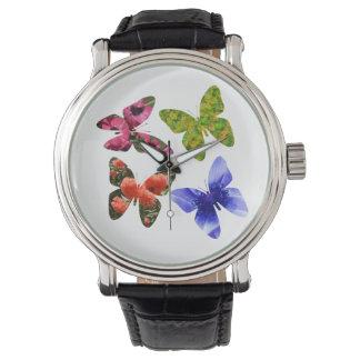 Four Flower Butterflies, Watch